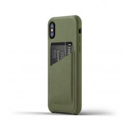 Mujjo Leren Wallet Case iPhone X groen