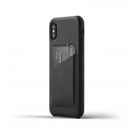 Mujjo Leren Wallet Case iPhone X zwart