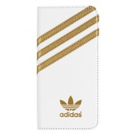 Adidas Basics Premium Booklet iPhone 6 / 6S White / Gold