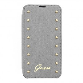 Guess Studded Galaxy S5 Folio Case zilver