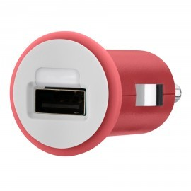 Micro 1A Car Charger USB Red
