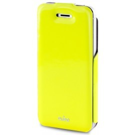 Puro Vertical Flipper Case VIP iPhone 5 / 5S Yellow / Grey