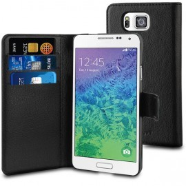 Muvit Wallet Case Galaxy Alpha Black