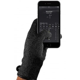 Mujjo Single-Layered Touchscreen Gloves (M) zwart