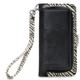 Mobilize 2in1 Gelly Wallet Zipper Case iPhone XR zwart/zebra