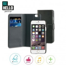 BeHello 2-in-1 Wallet Case iPhone 6(S) zwart