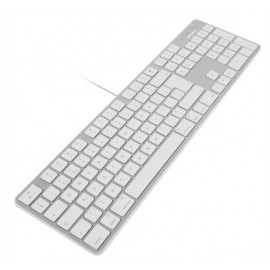 Macally Slim USB Toetsenbord UK wit/aluminium