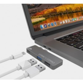 intelliARMOR USB-C 3 in 1 MacBook LynkHUB PRO space gray