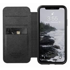 Nomad Rugged Case Folio Leather iPhone XS Max bruin