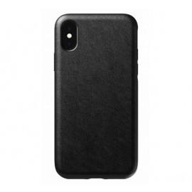 Nomad Rugged Case Leather iPhone X / XS zwart