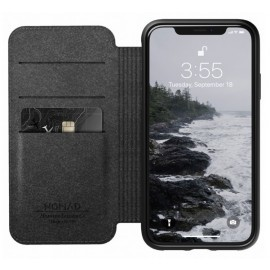 Nomad Rugged Case Folio Leather iPhone XR bruin