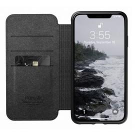 Nomad Rugged Case Folio Leather iPhone XS Max zwart