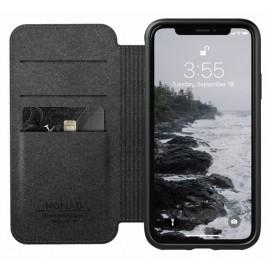 Nomad Rugged Case Folio Leather iPhone X / XS zwart