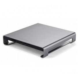 Satechi Aluminium Monitor Stand Hub iMac grijs
