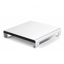 Satechi Aluminium Monitor Stand Hub iMac zilver