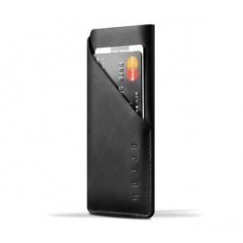 Mujjo wallet leren sleeve iPhone X zwart
