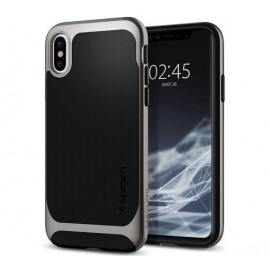 Spigen Neo Hybrid case iPhone X grijs