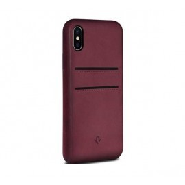 Twelve South Relaxed Leather pockets iPhone X / XS Marsala