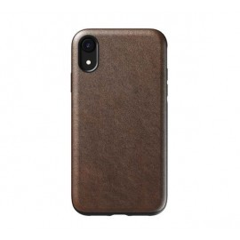 Nomad Rugged Case Leather iPhone XR bruin