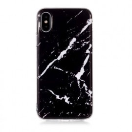 C&S Slim Hardcase Marble iPhone X / XS zwart