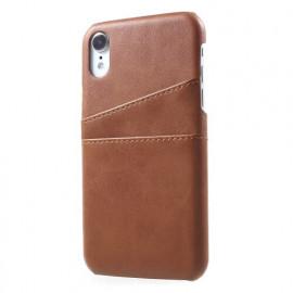 Casecentive Leren Wallet back case iPhone XR bruin
