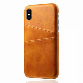 Casecentive Leren Wallet back case iPhone XS Max tan