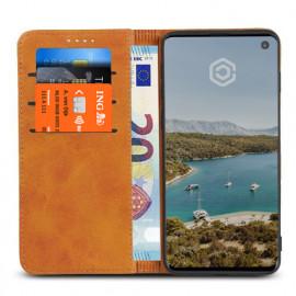 Casecentive Leren Wallet case Samsung Galaxy S10e tan