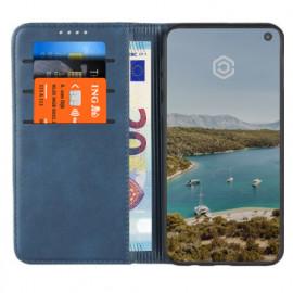 Casecentive Leren Wallet case Samsung Galaxy S10e blauw