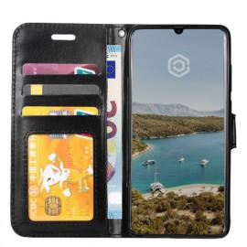 Casecentive Leren Wallet stand case Samsung Galaxy A70 zwart