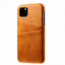 Casecentive Leren Wallet back case iPhone 11 Pro Max tan