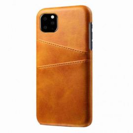 Casecentive Leren Wallet back case iPhone 11 tan