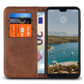 Casecentive Leren Wallet case Huawei P20 Pro bruin
