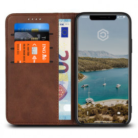 Casecentive Leren Wallet case iPhone XS bruin