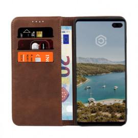 Casecentive Leren Wallet case Samsung Galaxy S10 Plus bruin