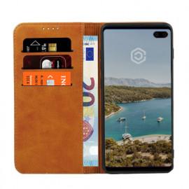 Casecentive Leren Wallet case Samsung Galaxy S10 Plus tan