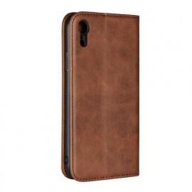 Casecentive Leren Wallet case iPhone XR bruin