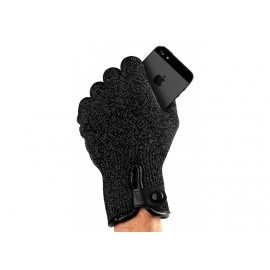 Mujjo Double-Layered Touchscreen Gloves (M) zwart