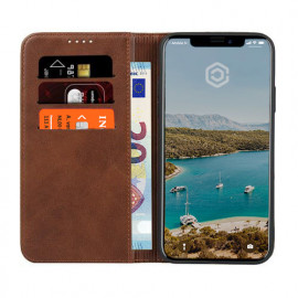 Casecentive Leren Wallet case iPhone 11 bruin