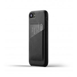 Mujjo Leather Wallet Case iPhone 7 / 8 / SE 2020 zwart