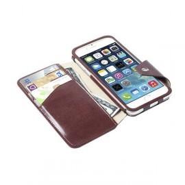 Krusell Kalmar BookCover FlipWallet iPhone 6 leder bruin