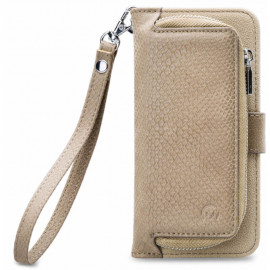 Mobilize 2in1 Gelly Wallet Zipper Case Samsung Galaxy A50 Latte