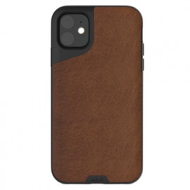 Mous Contour Leather iPhone 11 bruin