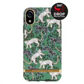 Richmond & Finch Freedom Series Apple iPhone XR groen leopard / goud