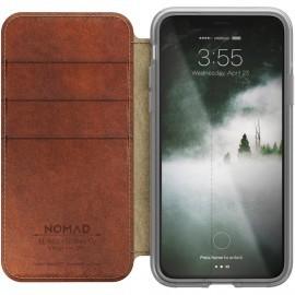 Nomad Clear Folio Case iPhone X bruin