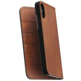 Nomad Leather Folio Case iPhone X bruin