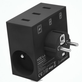 usbepower HIDE 5-in-1 wall charger zwart