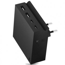 usbepower HIDE PD 57W 5-in-1 wall charger zwart