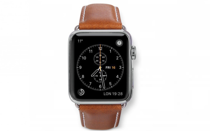 Dbramante1928 Copenhagen Apple Watch Bandje 38mm Zilver/bruin