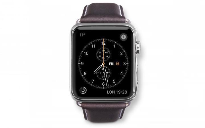 Dbramante1928 Copenhagen Apple Watch Bandje 38mm Grijs/donkerbruin