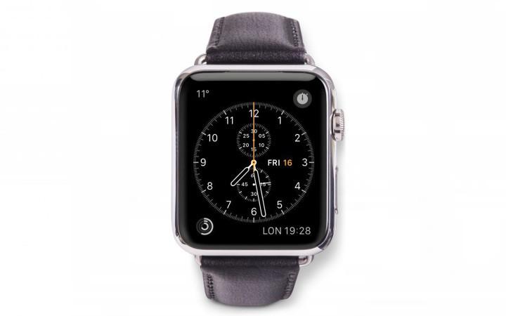 Dbramante1928 Copenhagen Apple Watch Bandje 38mm Grijs/zwart